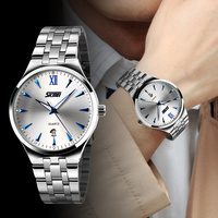 New 2014 Fashion Men S Full Steel Quartz Watch SKMEI Brand Men Casual Dress Wristwatches With