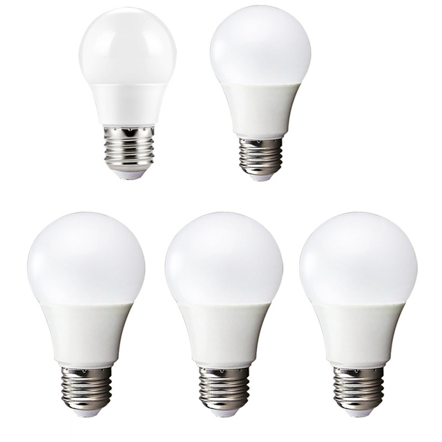 Led Bulb E27 3w 5w 7w 9w 12w 15 Watt 220v High Brightness Home Lighting