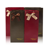 Free Shipping Fabrics Gift Box Bag Portable Suitable For Business Party Wine