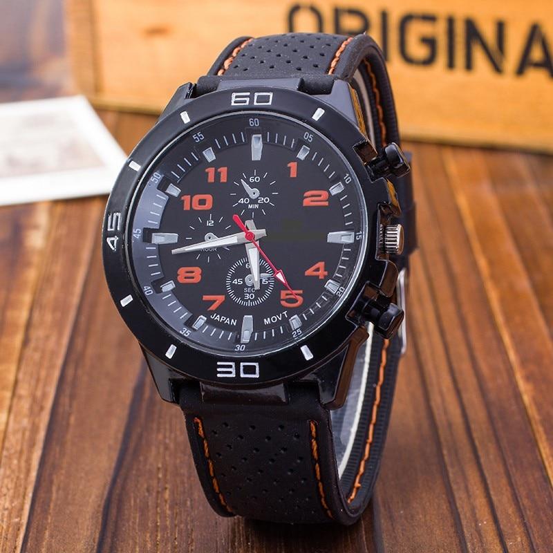 Cheap Relogio Masculino Outdoor Casual Men Brand Army Military Sports Watches Men Silicone Quartz Wrist Watch Clock Reloj Hombre