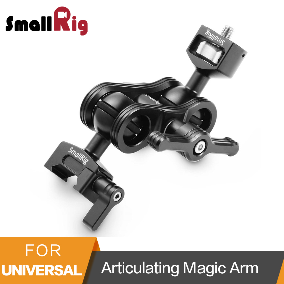 SmallRig Articulating Magic Arm with 1/4 Thread Screw Ballhead and NATO Clamp Ballhead Monitor Mount -2071SmallRig Articulating Magic Arm with 1/4 Thread Screw Ballhead and NATO Clamp Ballhead Monitor Mount -2071