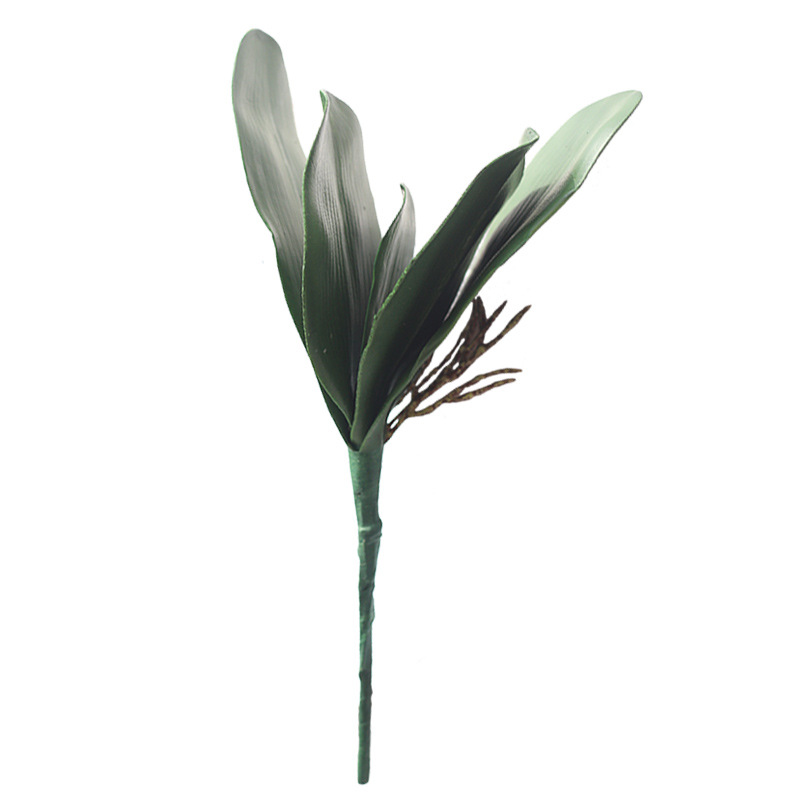 Artificial Flower Green Butterfly Orchid Leaveshigh Leaves DIY Potted Flower Arrangements Succulents Bride Wedding Home Decor