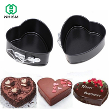 WHISM Removable Cake Mold Metal Stainless Steel Heart Shaped Non Stick Cookware Cheesecake Pan Baking Cake Pan Bake Mould
