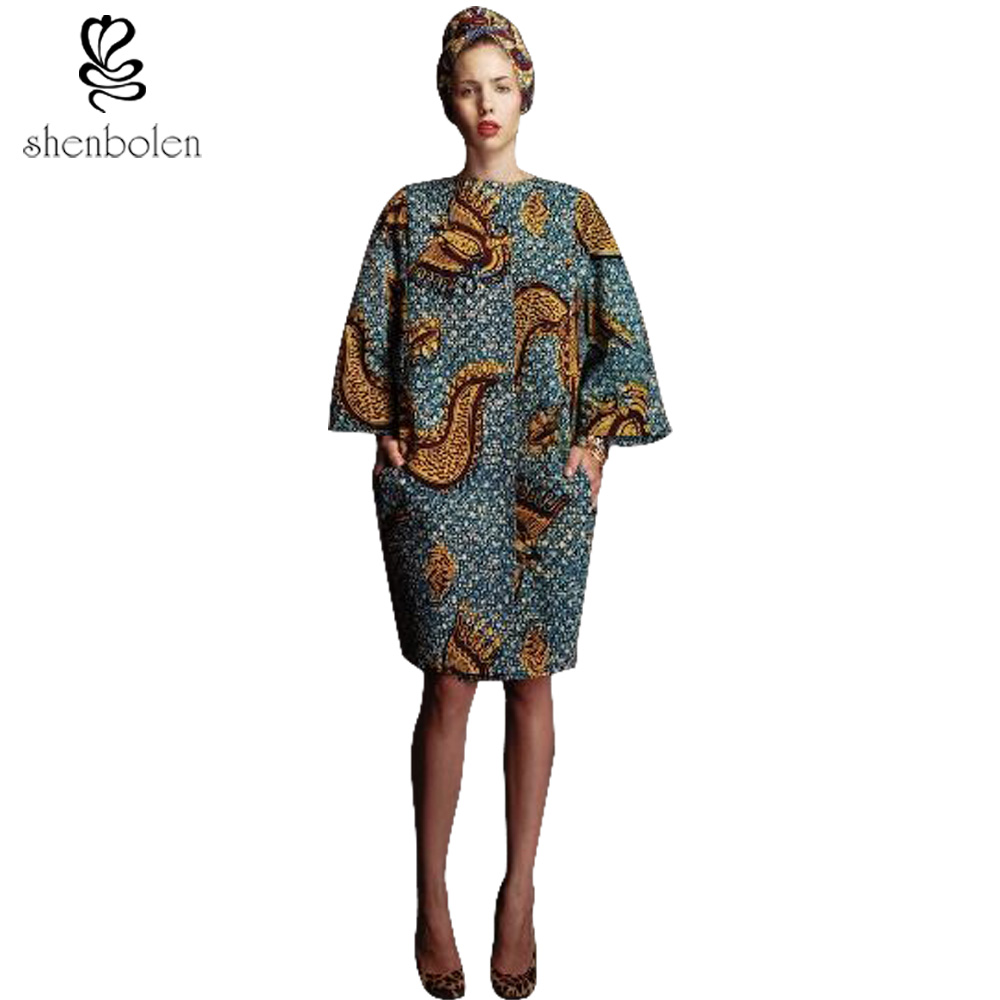 2017 Spring New African Female Coat Ankara Batik Cloth Quality Sewing Women Fashion Personality