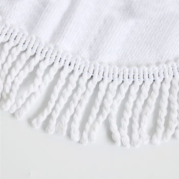 Unicorn Tassel Tapestry Floral Round Beach Blanket