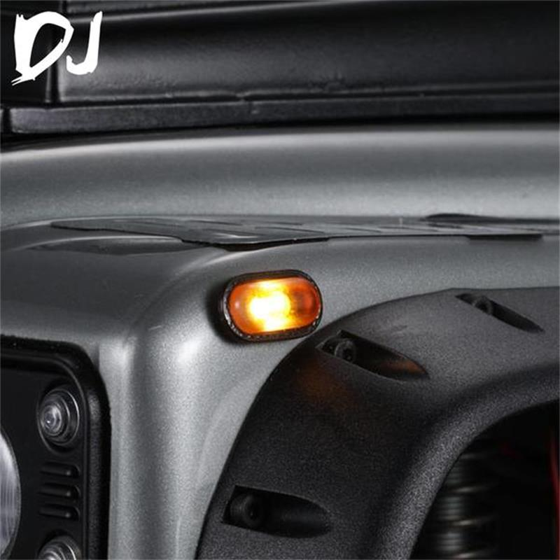 1PAIR DC-DJ RC 1:10 Scale Yellow Turn Light Kit Decoration For Traxxas TRX4 TRX-4 DJC-9013
