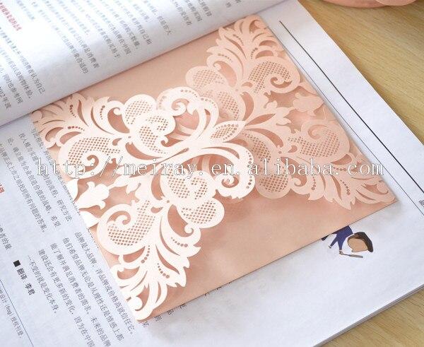 aliexpress : buy 100pcs /lot silver laser cut wedding, Wedding invitations
