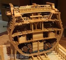 Bilancia 1/48 USS Bonhomme Richard sezione modello di Nave kit + di Lusso STRUTTURA INTERNA Della Decorazione del modello kit + botti di legno