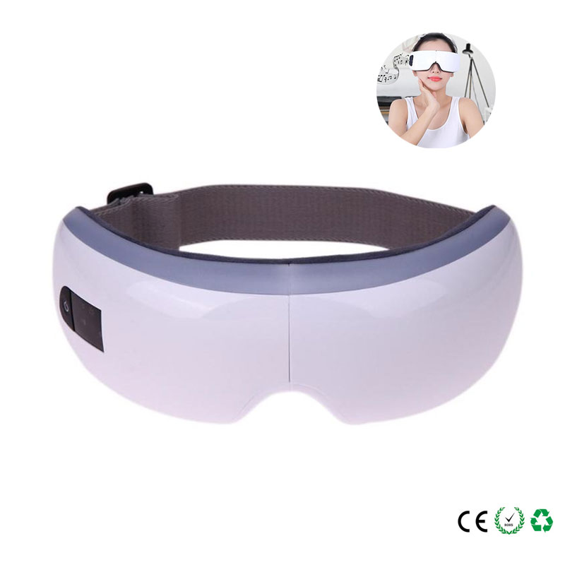Electric Eye Massager Wireless Air Pressure Eyes Massager Instrument Music Vibration Magnetic Heating Therapy Massage Eye Care