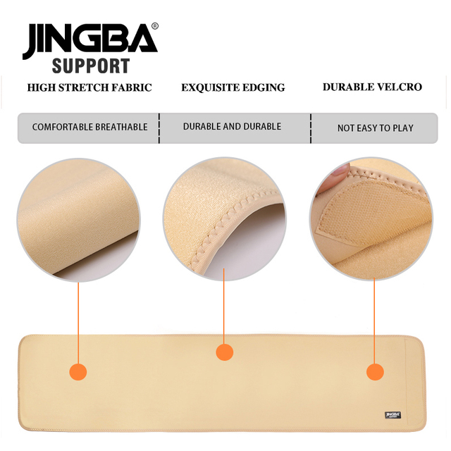 JINGBA SUPPORT Waist trimmer Slim fit Abdominal Waist sweat belt Waist back support belt Fitness Equipment Sport protective gear 4