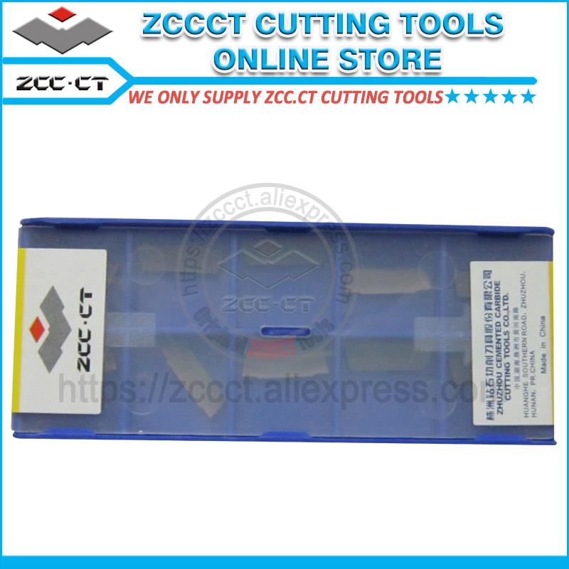 10pcs ZCCCT turning tool insert ZTBD02002 MM YBG302 2mm parting and grooving insert MGMN200