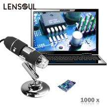 Buy online lensoul 2MP 1000X 8LED USB Portable Digital Microscope Endoscope Zoom Camera +Stand