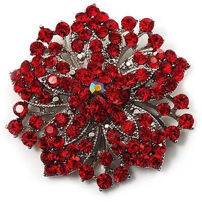 2,2 дюймов винтажная Серебряная черная Хрустальная Морская звезда, брошь для вечеринки, выпускного, ювелирные изделия, подарки - Окраска металла: 7