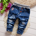 2017 autumn Baby Girls and Boys Denim pants,Children Star Pattern Number Fashion Jeans trousers,V1882