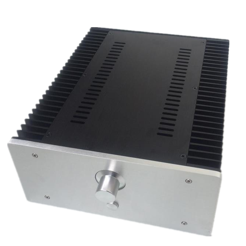 QUEENWAY 2612 AMP Versiom CNC Full aluminum small Class A amplifier audio box power amp case 260mm*120mm* 311mm  260*120* 311mm queenway audio 2215 cnc full aluminum amplifier case amp chassis box 221 5mm150mm 311mm 221 5 150 311mm