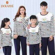 Pajamas For Family Women Love Sleepwear Cotton Stripe Children Pajamas Men And Women Sleep Lounge Couple Pajama Sets