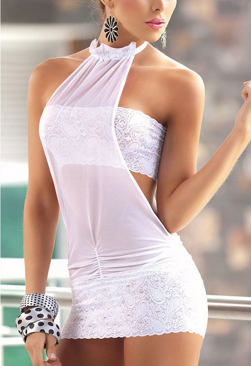 2017 New Sexy Lingerie Set Sexy European and American Women's Sexy Underwear Pajamas Lace Dress Uniforms Nightgowns