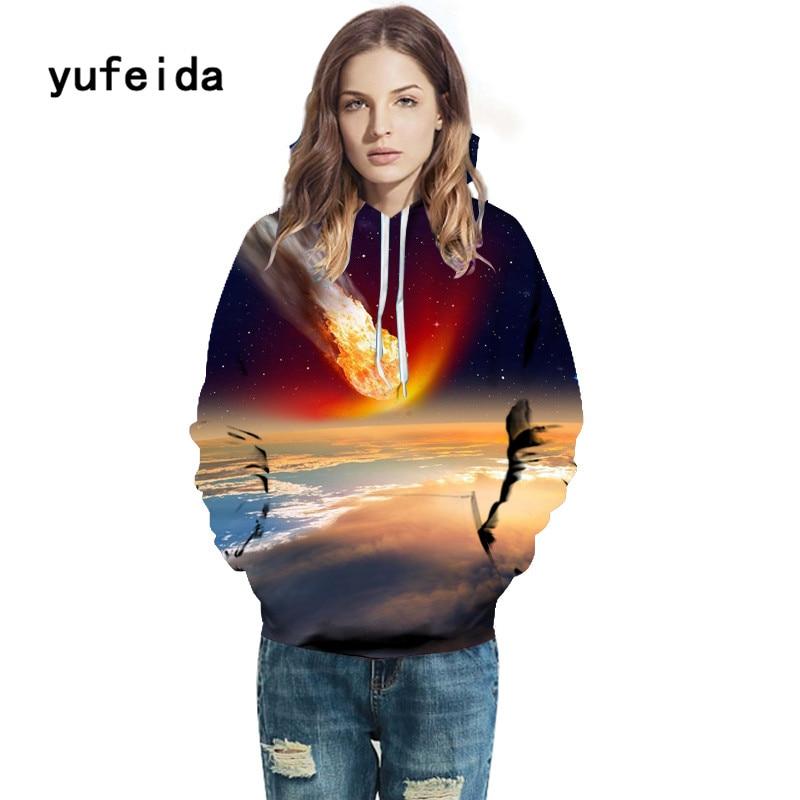 YUFEIDA Men Women 3D PrintHoodies Winter Sweatshirts Fashion Pullover Autumn Tracksuits Outwear Casual Animal Male Jacket Hoody