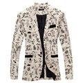 Дизайн мужчины пиджак цветочный костюм свободного покроя пиджак для мужчины пиджак приталенный Fit куртка мужчины топы пальто MB029