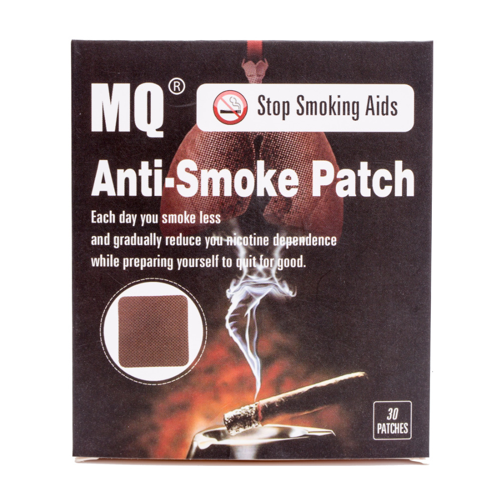 MQ Brand Anti Smoke Patch 30 Pieces/Box Smoking Cessation Pad 100% Natural Herbal Stop Smoke Patch Health Care Product kongdy brand 10 pieces box anti motion sickness patch chinese traditional herbal medical plaster health care prevent vomitng