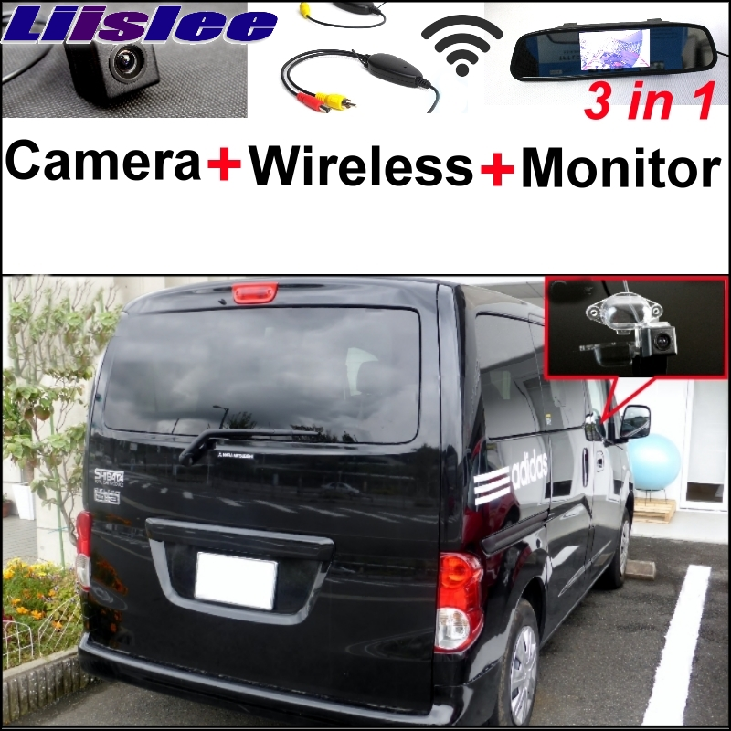Liislee 3 in1 Rear View Special Camera + Wireless Receiver + Mirror Monitor Easy Back Up Parking System For Mitsubishi Delica ветровики skyline mitsubishi delica space gear l 400 94 комплект 2 шт