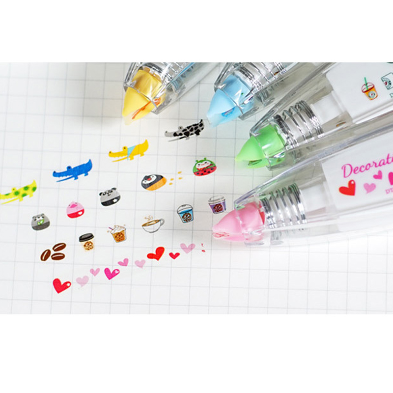 Cute Animals Decorative Correction Tape Kawaii Corrector For School Stationery School Supply Papeleria