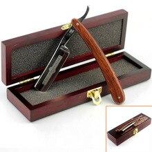 Vintage Gold Dollar 800 Straight Razor Cut Throat Shaving Razor Folding Knife Kit + Wooden Box Best Gift For Men