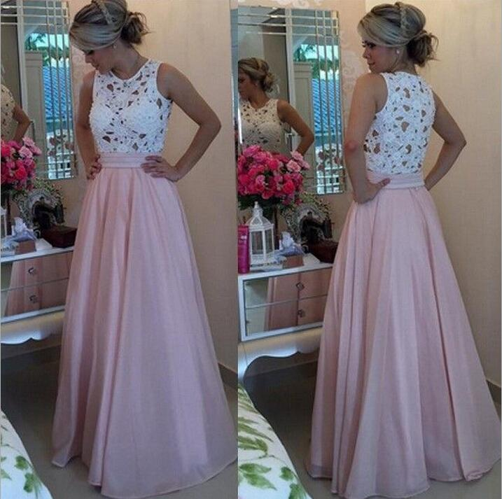 e10f3cae119 Beading Lace Splicing Chiffon Pink Long Dress 2017 Sleeveless Crochet  Hollow Out O Neck Maxi Dress Summer Dresses Vestido BF535-in Dresses from  Women s ...