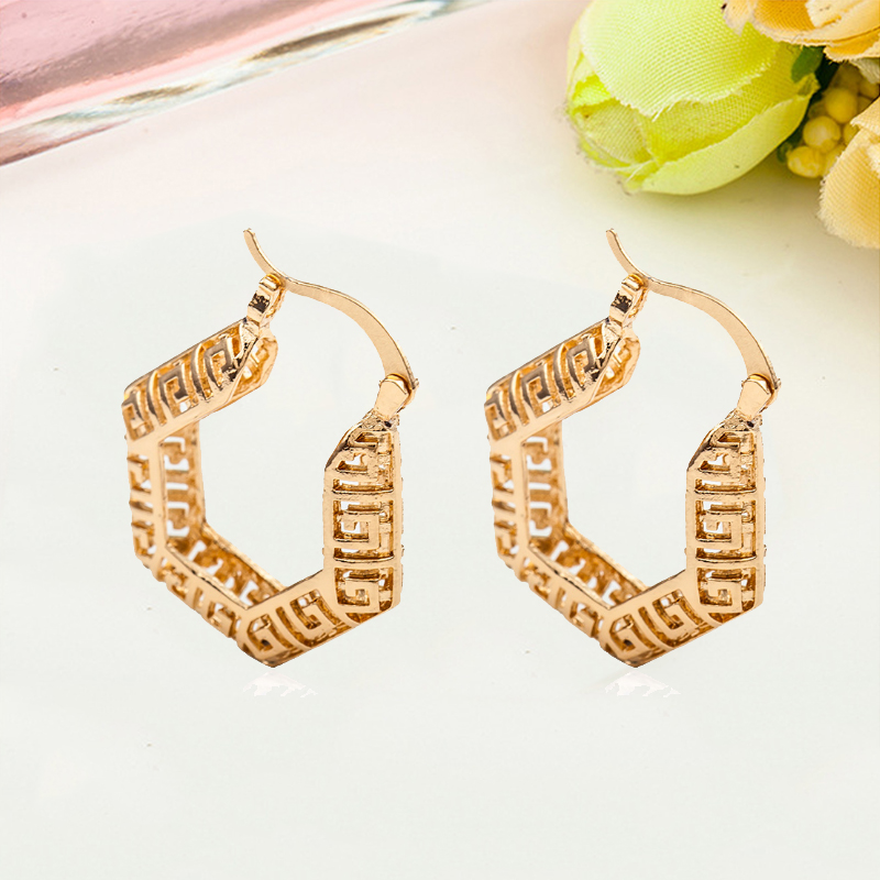Alert Creative Unique Classical Simple Woven Elegant Pretty Hollow Accessories U Shape Charm Special Popular Earrings Delicate Less Expensive