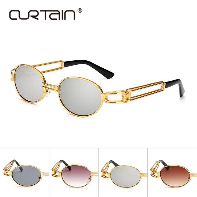 3184b8bfb7dd7a Hip Hop Retro Redonda Pequena Óculos De Sol Mulheres Steampunk Óculos De Sol  Dos Homens Óculos