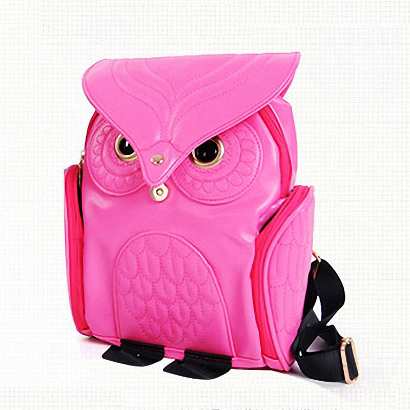 Fashion Cute Owl Backpack Women Cartoon School Bags For Teenagers ...