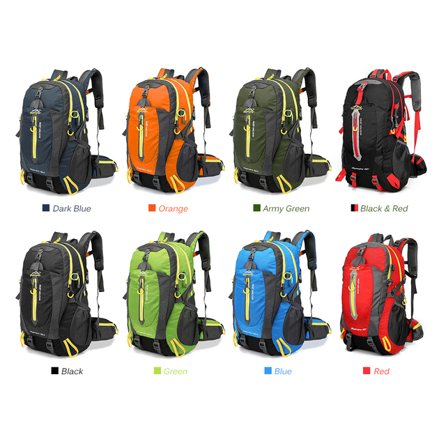 Waterproof Climbing Backpack Rucksack 40L Outdoor Sports Bag Travel Backpack Camping Hiking Backpack Women Trekking Bag For Men 6