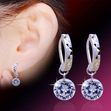 Drop Earrings For Women Zircon Earring Earings 925 Sterling Silver Jewelry Earing Brincos Brinco Oorbellen Pendientes Gift F29(China)