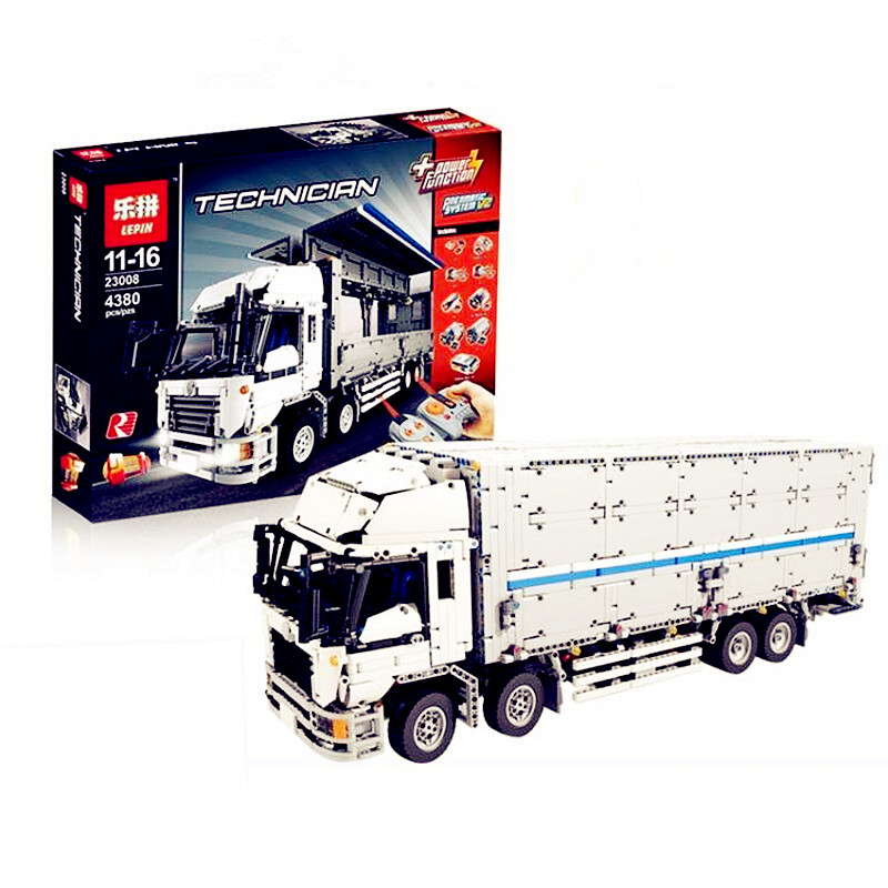 PRESELL LEPIN 23008 4380pcs technic series MOC truck Model Building blocks Bricks kits Compatible boy brithday gifts 1389