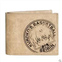 Free shipping Kuroko No Basket cos Kagami Taiga Kise Ryota Cartoon Fashion leisure wallet printing Short PU woman man wallet