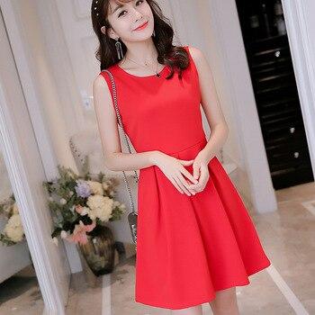 47be15efac5 Летние женские элегантные платья красное платье для женщин Повседневное  офисные короткий рукав праздничное vestidos черный 2019