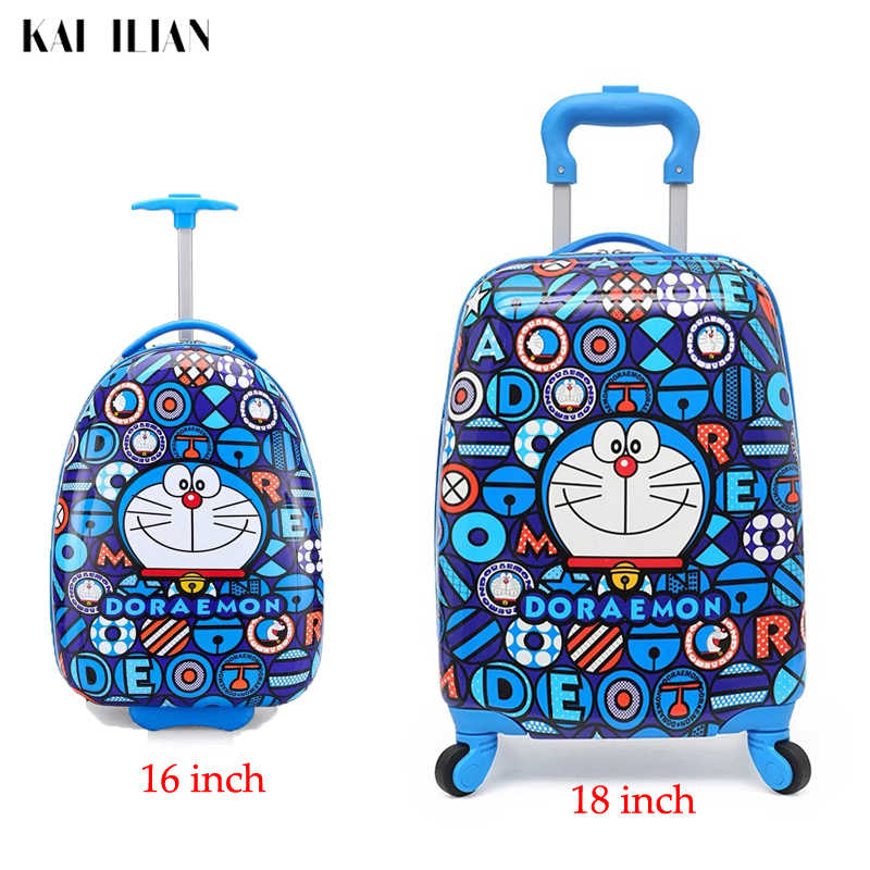 Cartoon kids Rolling Luggage trolley case children travel Suitcase on wheels 16/18 inch Spinner Carry-Ons boys girls Wheeled Bag