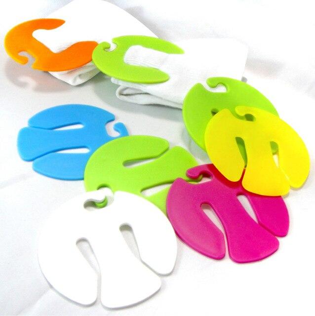 2500 stks/set Gemengde Kleur Sok Clip Cirkel Vorm Kleurrijke Sok Houder Sok Sorteerders Sloten Clips - 2