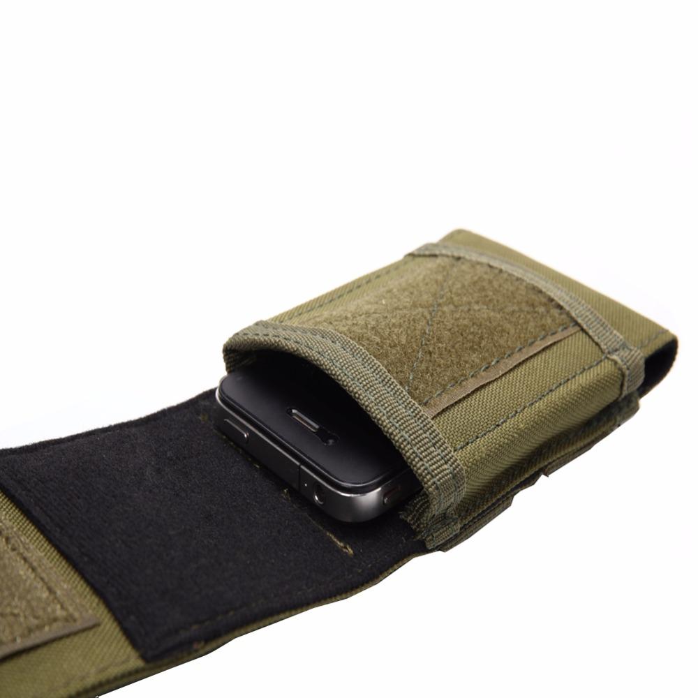 Tactical Holster Molle Army Camo Camouflage Bag Hook Loop Belt Pouch Rod Tempat Handphone Cover Case For Mobile Phone Outdoor Equipment In Climbing Bags From Sports