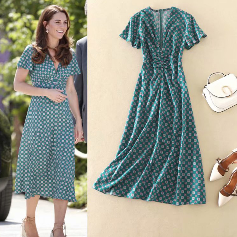 Long Dress Kate Middleton High Quality 2019 Summer New Women S Fashion Party Sexy Beach Boho