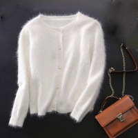mink cashmere sweater women cashmere cardigans knitted pure mink coat free shippingM1113