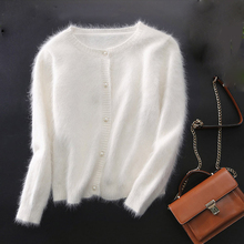 cashmere cardigans knitted pure mink coat