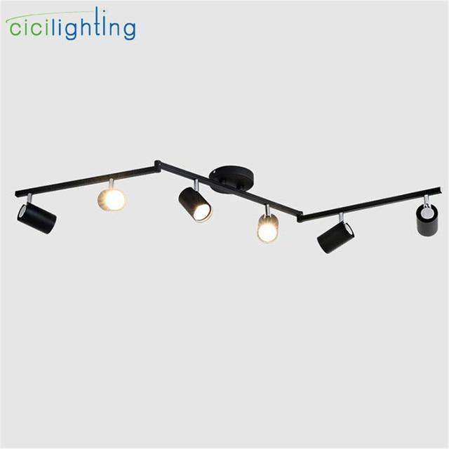 Us 92 5 Aliexpress Modern Black White Led Ceiling Lights Gu10 Adjule Metal Spotlights Lamp Wall Picture