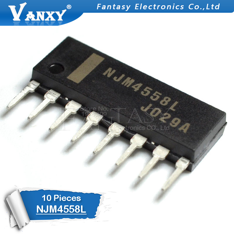 10PCS NJM4558L SIP8 NJM4558 SIP 4558L SIP-8 NJM4558LD New And  Original IC