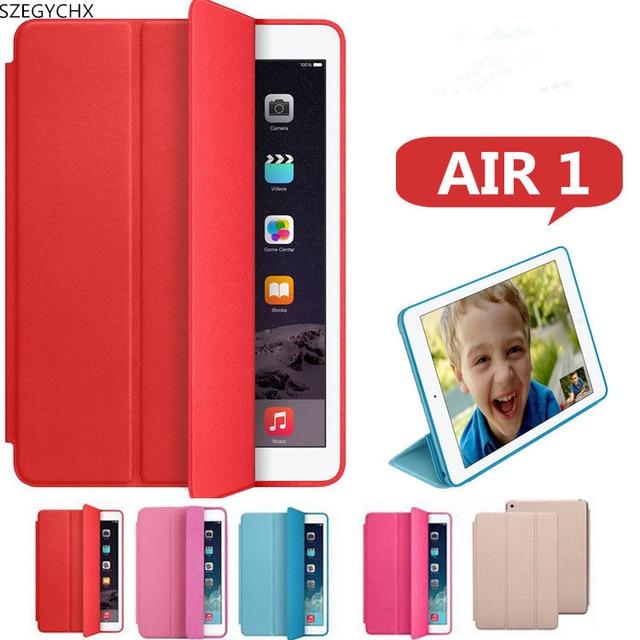 SZEGYCHX, кожаный чехол для iPad AIR 1 Новый Smart Cover iPad Air защитный в виде ракушки Авто Режим сна/Пробуждение крышка