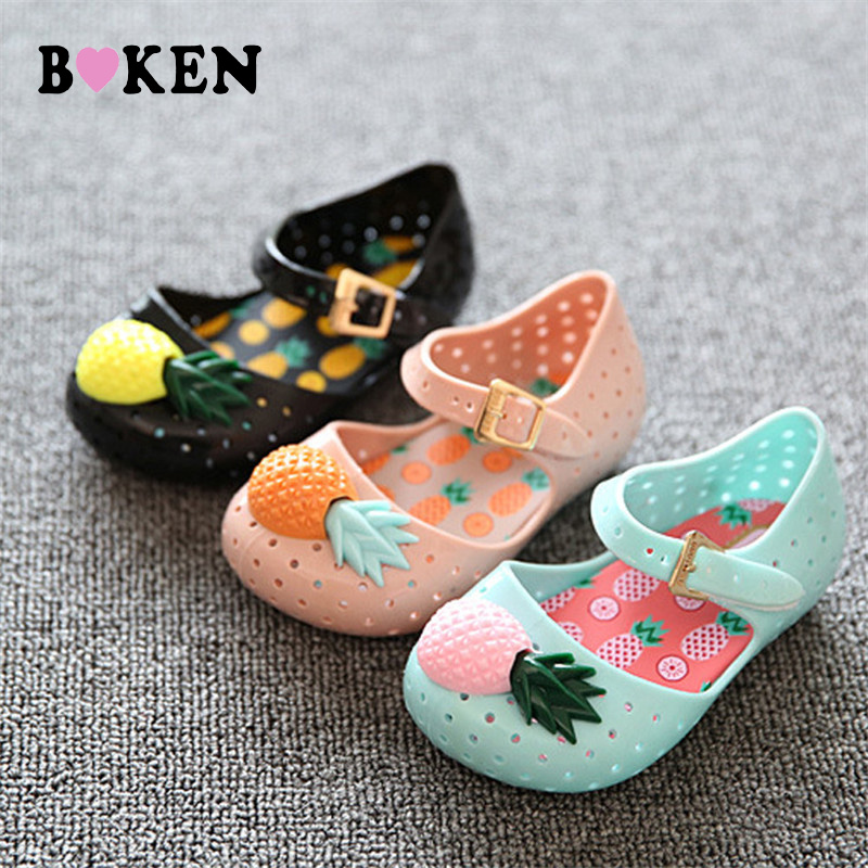 BOKEN jaunie bērnu ananāsu rakstu apavi Vasaras zēns meitene Jauki - Bērnu apavi