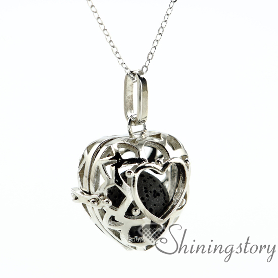 Heart openwork essential oil diffuser necklace diffuser pendants heart openwork essential oil diffuser necklace diffuser pendants wholesale make your own oil diffuser aroma necklace lava in pendants from jewelry aloadofball Gallery