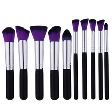 GUJHUI 10st Makeup Brushes Kit Brush Foundation Eyeshadow Eyeliner Lip Pulverborste Set Kosmetiska Verktyg Pincel Maquiagem