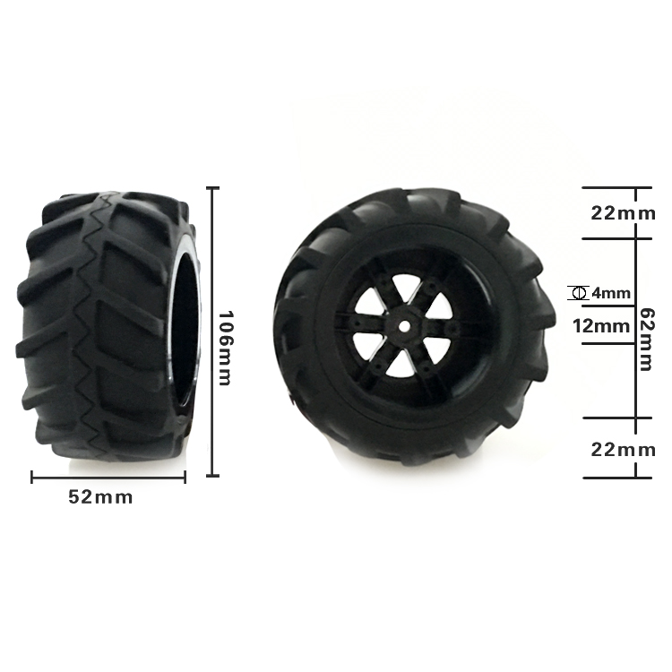 Wltoys 12428 12423 Feiyue FY03 1/12 Scale 2.4GHz RC Car 2.4G 4WD Desert Buggy Off Road wheel tires 106mm bigfoot wltoys 12428 12423 1 12 rc car spare parts 12428 0091 12428 0133 front rear diff gear differential gear complete
