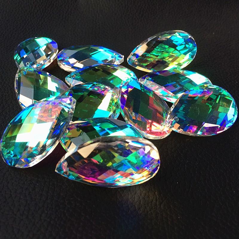 100 stücke 38mm Klar AB Wechselvolle k9 Kristall Facettierte Prismen (Freies Ringe) Kristall Kronleuchter Zubehör, hochzeit Party Dekoration-in Anhänger & Drop Ornamente aus Heim und Garten bei  Gruppe 1